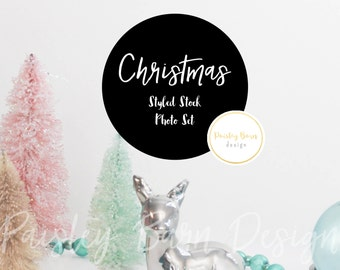 Styled Stock Photography | Christmas | Pink Teal Blue | instagram, blog, branding, holiday, promotion, social media, digital background
