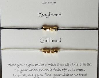 Wish bracelets sets, girlfriend boyfriend wish bracelets, husband wife wish bracelets,