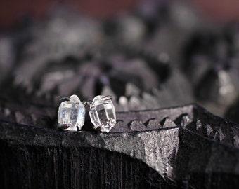 Herkimer Diamond Earrings Diamond Stud Earrings Post Earrings Sterling Silver Earrings Quartz Clear Beautiful Jewelry Gift For Her Under 50