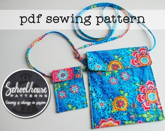 Mini messenger bag sewing pattern - purse for girls and their doll - PDF- INSTANT DOWNLOAD
