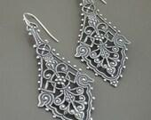 Vintage Earrings - Silver Earrings - Boho Earrings - Filigree Earrings - Handmade Jewelry