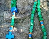 Lego Rosary - The Original Catholic Lego Rosary - Green, Blue and Orange Rosary