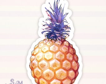 Fat Pineapple 3 vinyl sticker