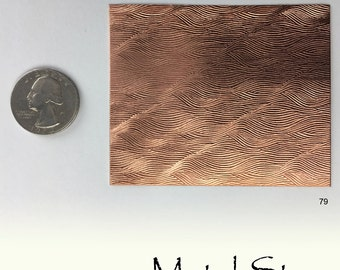 "Textured Copper 24 gauge Sheet Metal 2.5"" x 3"" - Solid Copper - Great for Jewelry Making 79"