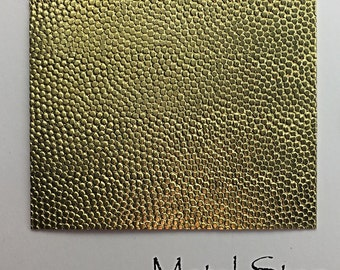 "Textured Brass Sheet 2.5"" x 3"" - Pebble Pattern 43 - Great for Jewelry or Rolling Mill impressions"