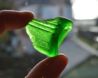 TAKEN - Green Poison Bottle Shard - Scottish Beach Finds - Sea Worn Glass  (6040)