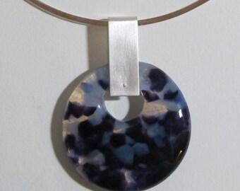 Purple & Opaline Disc Necklace