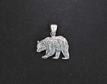Bear Pendant in Sterling Silver