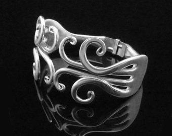 Double Fork Bracelet in Fancy Design Number 6 - MEDIUM 6-7 inches