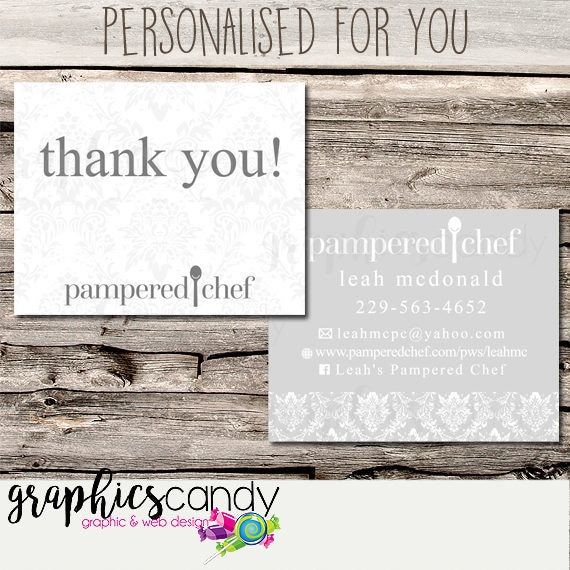 Pampered Chef Independent Consultant Thank You Card Design - Gift ...