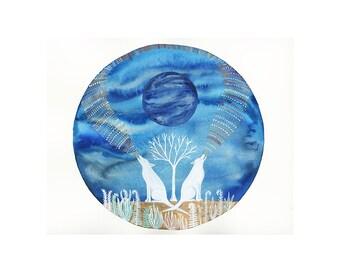 Neptune Art // Nursery art // Limited Edition Print // Calling Down Neptune