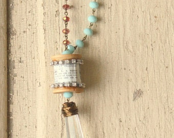 Chandelier Spool Necklace