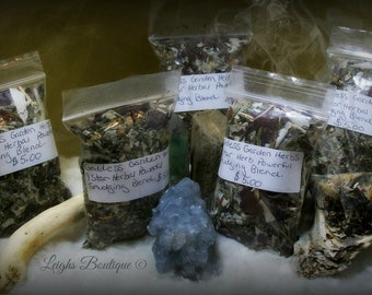 Sacred Sage Smudging Purification Blend; 9 Star Herbal Loose Incense Smudge Blend