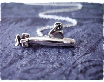 Silver Submarine Necklace - Sterling Silver Submarine Charm on a Delicate Sterling Silver Cable Chain or Charm Only