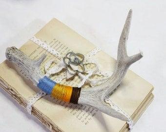 Natural Shed Deer Antler, Deer Horn, Decorated Antler   -  D