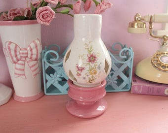 Vintage Shabby Chic Tealight Candle Lamp
