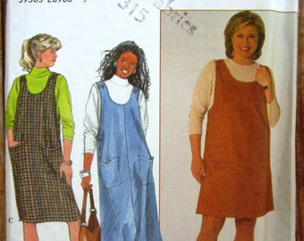 Vintage 1990s Womens Jumper in Two Lengths and Knit Top Sizes 26W 28W 30W 32W Simplicity Pattern 7859 UNCUT
