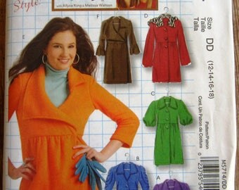 Misses Unlined Jackets and Coats with Collar and Sleeve Variations Sizes 12 14 16 18 McCalls Pattern M5714 UNCUT