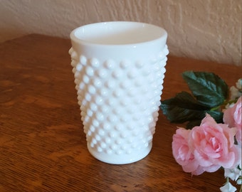 Fenton Milk Glass Hobnail Tumbler 4 oz. Size - Juice Glass - Oak Hill Vintage