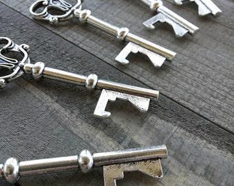 Skeleton Key Bottle Opener Keys Bulk Skeleton Keys Bulk Skeleton Key Large Skeleton Key Favors Silver Skeleton Keys 3 inch Keys 25pc