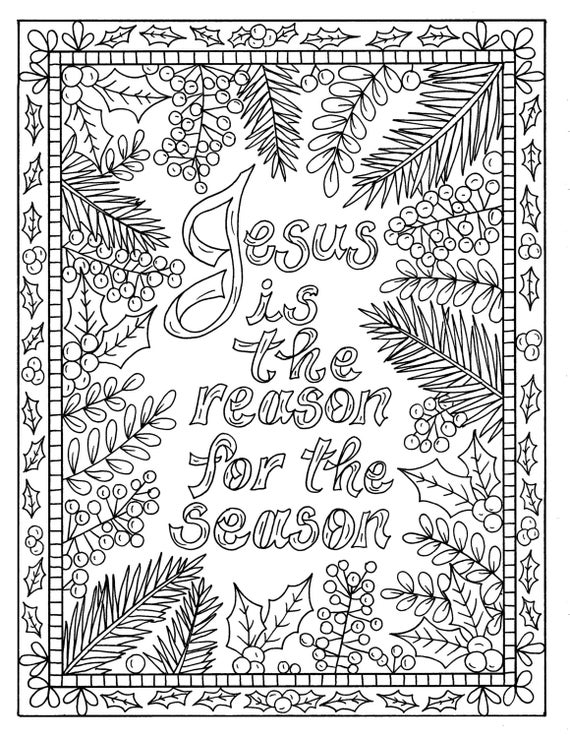 Kids christian coloring pages online ~ 5 Christian Coloring Pages for Christmas Color Book Digital