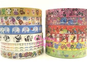 Panda Bear & Animal Plastic Deco Tape 15mm x 25 meters PT3