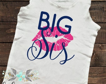 Big sister tank, Big Sis tank top, big sis, toddler tank, glitter shirt, Pink and Blue Glitter, Big Sister tank top, Sparkly Tank Top