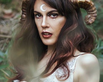 Faun Horns Cosplay Antlers Costume Ram Fairy headpiece