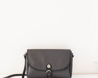 black leather satchel purse - cross body Liz Claiborne