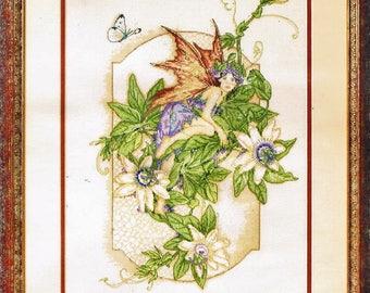 Fleur de Lis Counted Cross Stitch Kit - Passion Flower - Discontinued