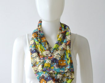 Rugrats Infinity Scarf (2 sizes - child or adult) 90s shows, vintage shows, 90s party, saturday morning cartoons, nickelodeon tv show, tommy
