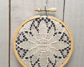 Vintage Lace Embroidery Hoop Art