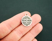 Teacher Stainless Steel Charms - Word Collage Charms - Exclusive Line - Quantity Options - BFS1459