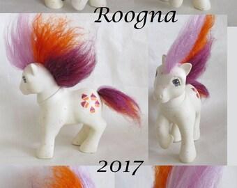 Custom Rehaired My Little Pony G1 Sparkle Glitter Cupcake Puff