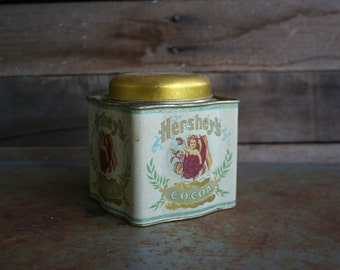 Vintage Square Hershey's Cocoa Tin by Bristol Ware