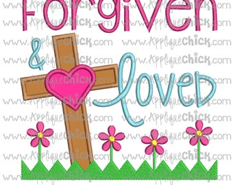 Forgiven and Loved Embroidery Design