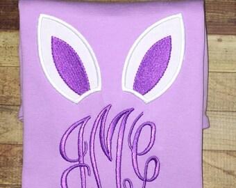 Bunny Ears Monogram Easter shirt
