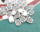 Made with Love Charms, Silver 25pc, 11x8mm