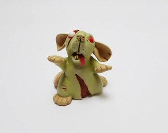 Zombie Rat Sculpture Dumbo Pet Rat Ornament Horror Fancy Rat Mouse Figurine