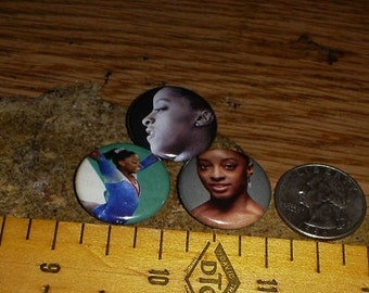 SIMONE BILES 3 one inch pin back buttons badge set