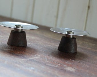 Two Danish Modern Candle Holders