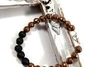 Copper hematite diffuser bracelet