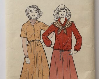 Vintage Sewing Pattern 70s dress skirt blouson News Of The World No. 133 multi size