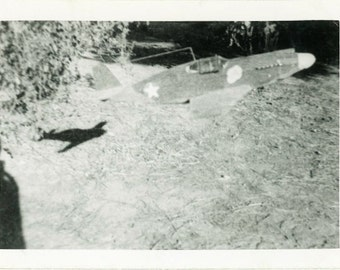 "Vintage Photo ""If Toy Planes Could Fly"" Snapshot Antique Photo Old Black & White Photograph Found Paper Ephemera Vernacular - 189"