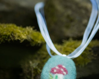 Felted Toadstool Necklace