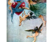 Fairy Notecard - Faeries Fly with a Heart - Repro Florence Anderson