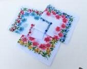 Vintage Ladies Handkerchiefs | Ladies Hankies | Hankies Lot | Flower Hankies | Floral Handkerchiefs | Set of 3 | Never Used