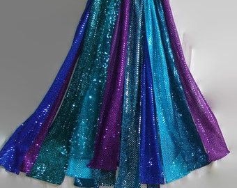 Glitzy sequin skirt patchwork skirt sequin metallic dress gypsy skirt plus size clothing maxi skirt hippie skirt boho skirt belly dancing