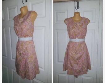 Play Date ...... Vintage 60s romper / front zip skort shorts / sleeveless mini dress / housewife mad men .. S M