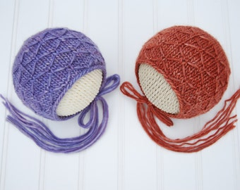 Textured Newborn Prop Bonnet Newborn Girl Bonnet Luxury Photo Prop Bonnet Newborn Photo Prop Bonnet Newborn Baby Bonnet, Newborn Size
